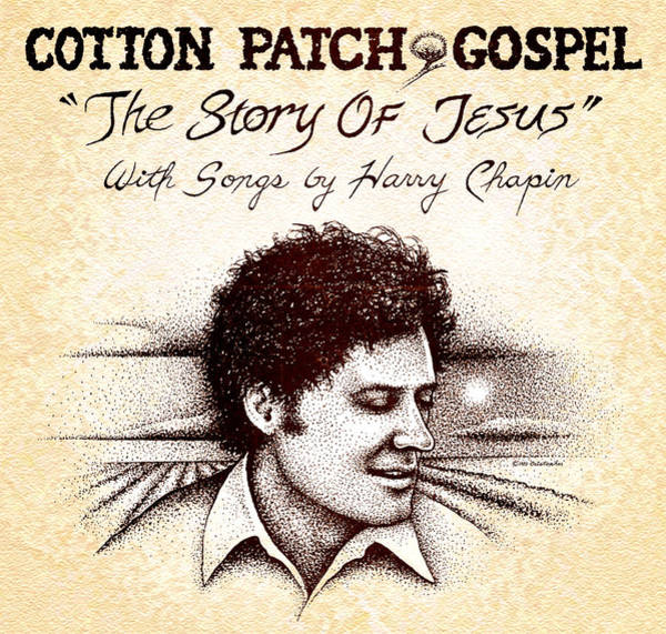 Stipple Drawing - Cotton Patch Gospel Harry Chapin by Cristophers Dream Artistry