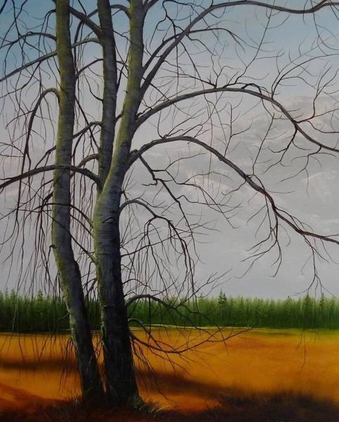 Painting - Cottonwoods by Judy Bradley