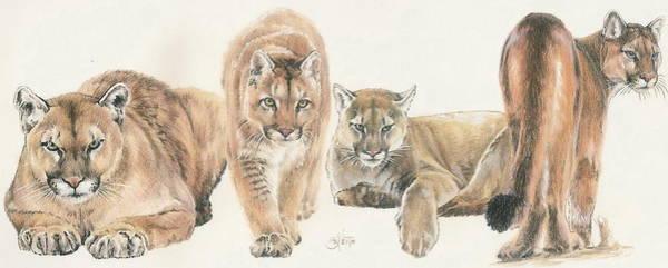 Mixed Media - New World Cougar Wrap by Barbara Keith