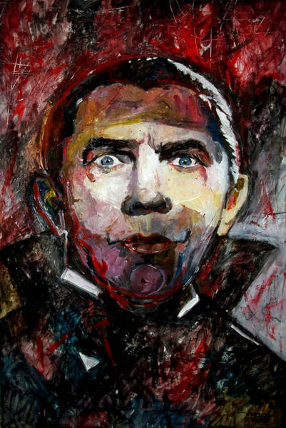 Zombie Cat Painting - Count Dracula Bela Lugosi by Marcelo Neira