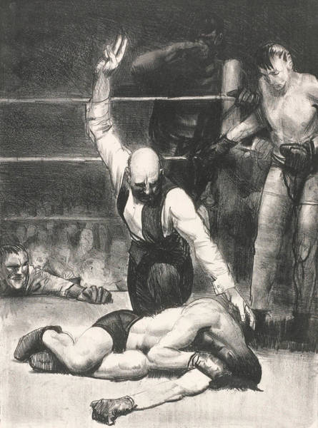 Boxing Painting - Counted Out, Second Stone by George Bellows