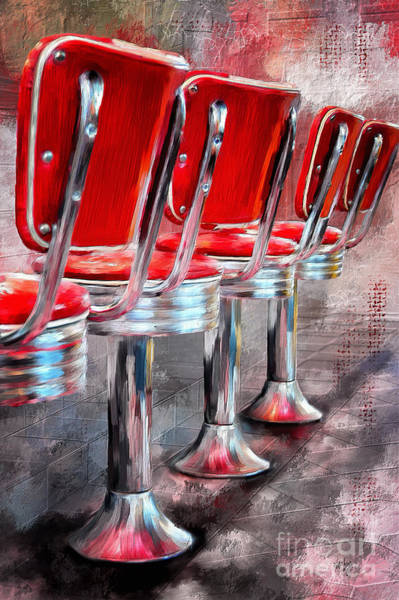 Bop Wall Art - Digital Art - Counter Seating Available by Lois Bryan