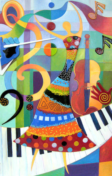 Trumpet Mixed Media - Counterpoint by Anne Nye