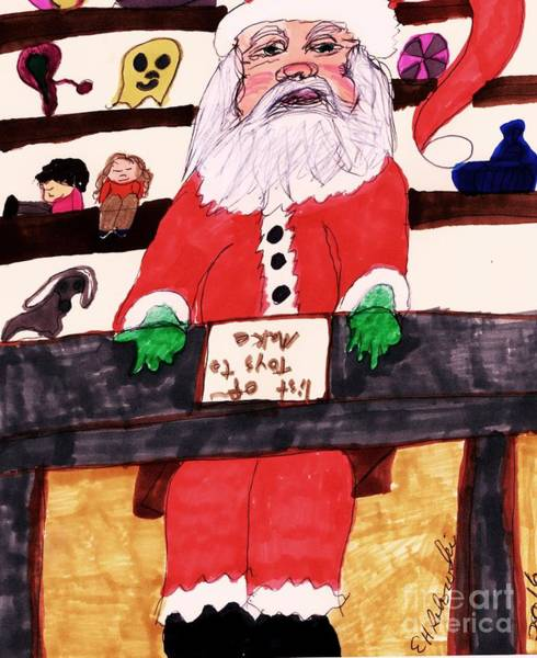 Shelves Mixed Media - Counting Days Before Christmas by Elinor Helen Rakowski
