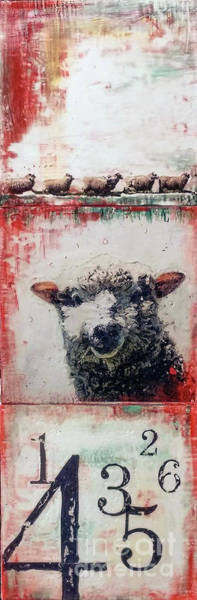 Painting - Counting Sheep by Laurie Tietjen