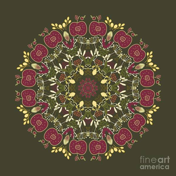 Wall Art - Photograph - Country Apple Kaleidoscope Pattern by Mary Machare
