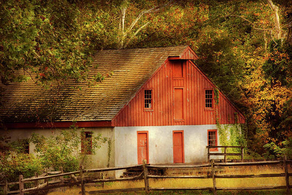 Photograph - Country - Barn - Out To Pasture by Mike Savad