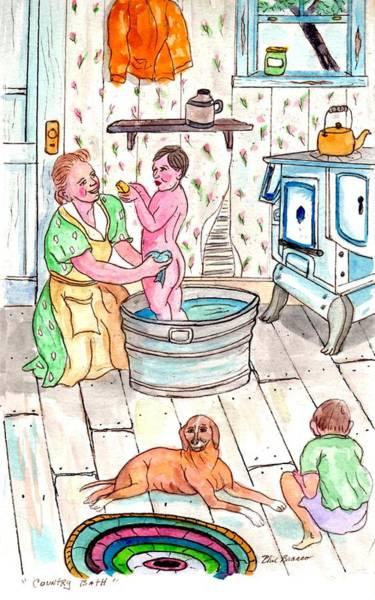 Country Bath Art Print