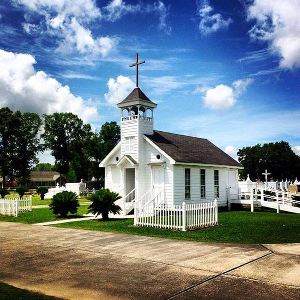Religious Wall Art - Photograph - Country Chapel #love #church #louisiana by Scott Pellegrin