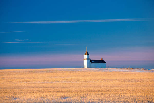 Church Spire Wall Art - Photograph - Country Chapel by Todd Klassy