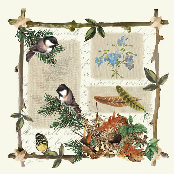 Burlap Painting - Country Charm-jp3030 by Jean Plout