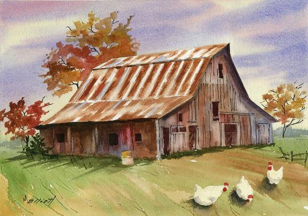 Wall Art - Painting - Country Chicks by Marsha Elliott