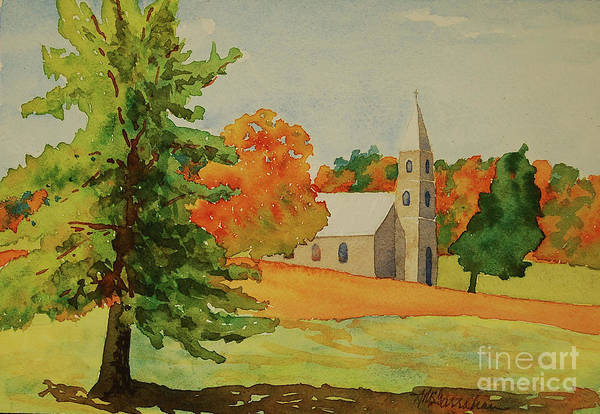 Wall Art - Painting - Country Church by Annette McGarrahan