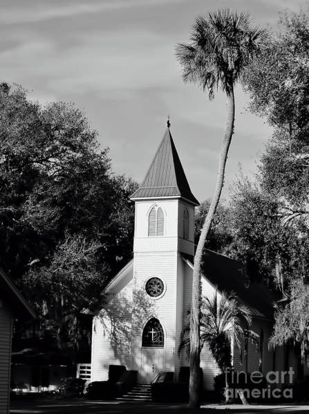 Photograph - Country Church Black And White by D Hackett