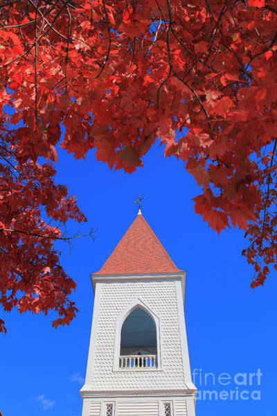 Acer Saccharum Photograph - Country Church by Larry Landolfi
