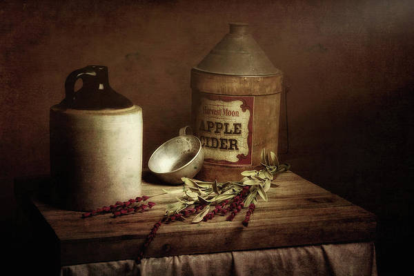 Jug Wall Art - Photograph - Country Cider by Tom Mc Nemar