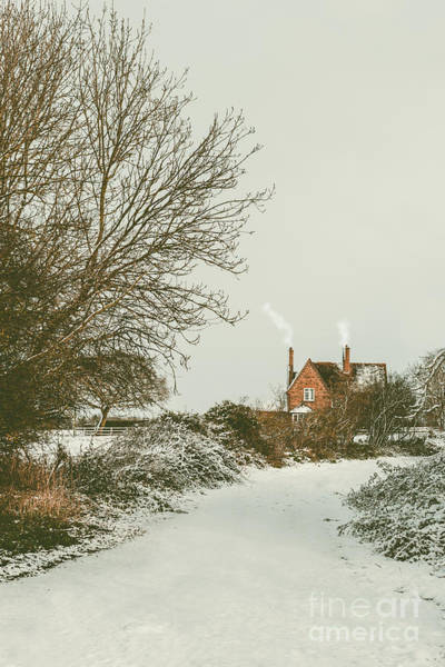 Wall Art - Photograph - Country Cottage In Snow by Amanda Elwell