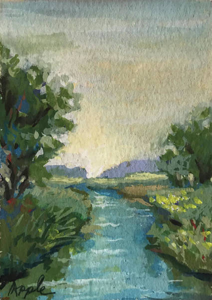 Wall Art - Painting - Country Creek by Linda Apple