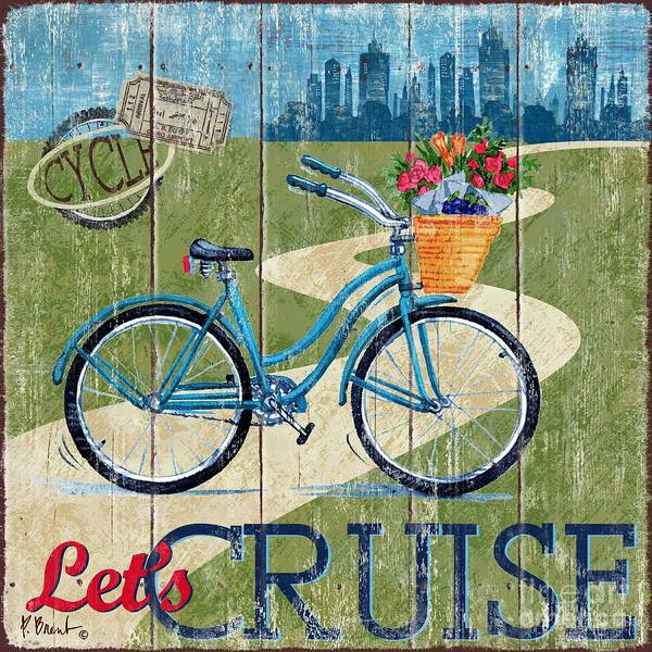 Cruiser Wall Art - Painting - Country Cruisers I by Paul Brent