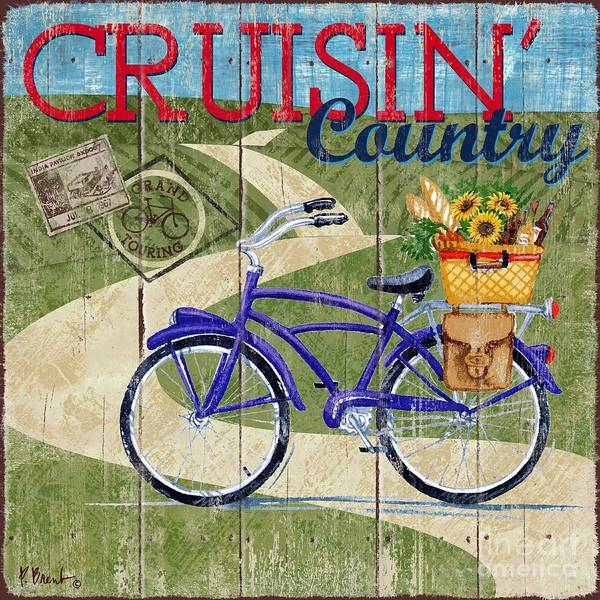 Cruiser Wall Art - Painting - Country Cruisers II by Paul Brent