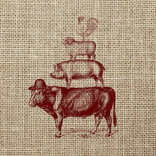 Farms Digital Art - Country Farm Friends 2 by Brandi Fitzgerald