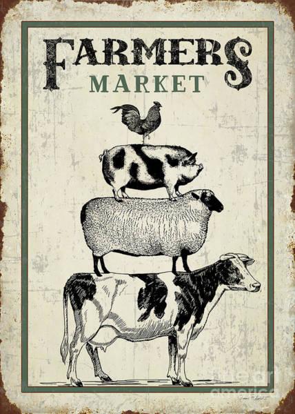 Wall Art - Digital Art - Country Farmers Market by Jean Plout