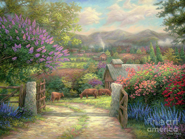 Wall Art - Painting - Country Gate by Chuck Pinson