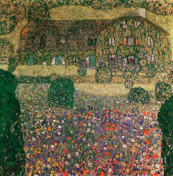 Gustav Klimt Painting - Country House By The Attersee by Gustav Klimt