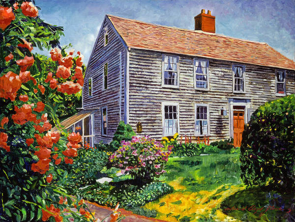 Cape Cod Painting - Country House Cape Cod by David Lloyd Glover