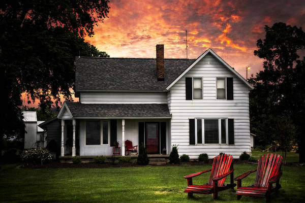 Photograph - Country House by Debra and Dave Vanderlaan