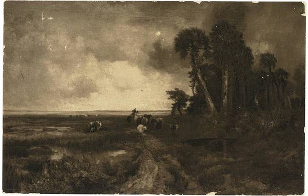 Wall Art - Photograph - Country Landscape With Cows And Dirt by Gillham Studios