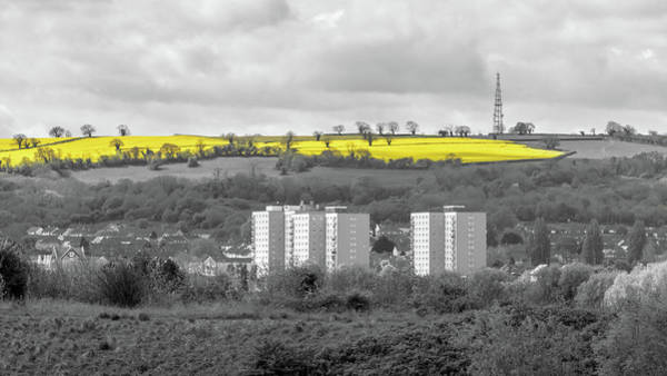Photograph - Country Landscape With Tower Blocks In The Foreground C by Jacek Wojnarowski