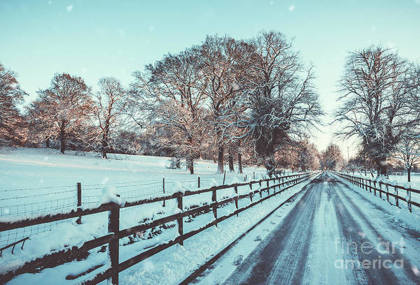 Wall Art - Photograph - Country Lane In Winter Snow by Amanda Elwell