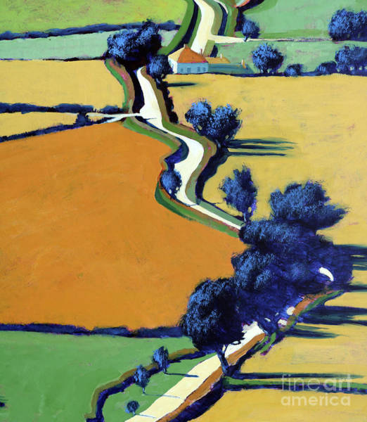 Long Shadow Painting - Country Lane Spring II by Paul Powis