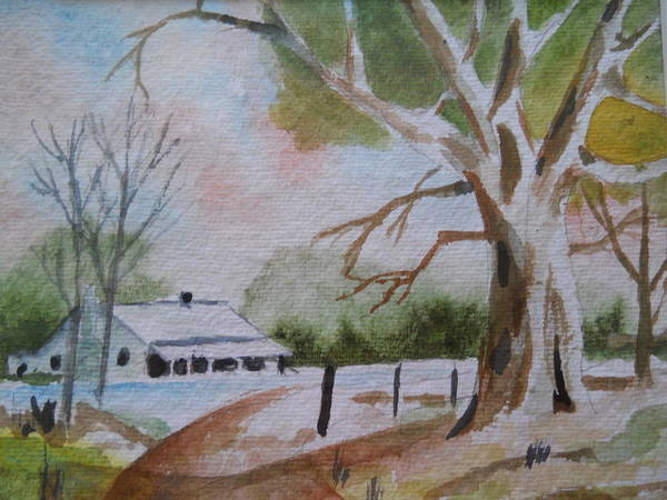 Painting - Country Living by Audrey Bunchkowski