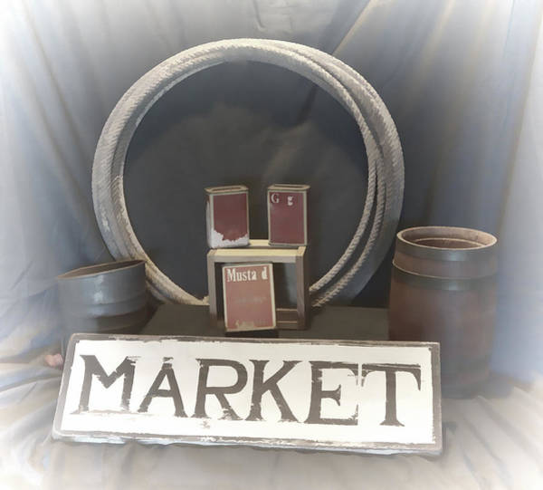 Mixed Media - Country Market by Pamela Walton