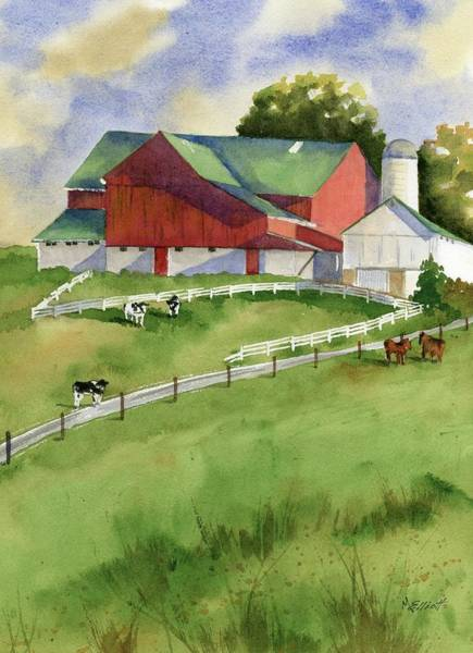 Farm Painting - Country by Marsha Elliott