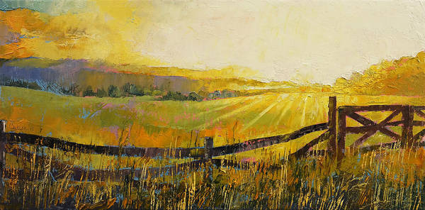 Wiese Wall Art - Painting - Country Meadow by Michael Creese