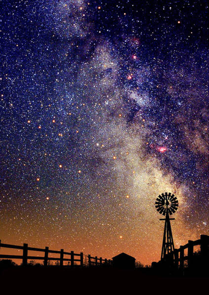 Country Milky Way Art Print