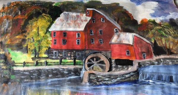 Wall Art - Painting - Country Mill by Julie Thomas-Zucker