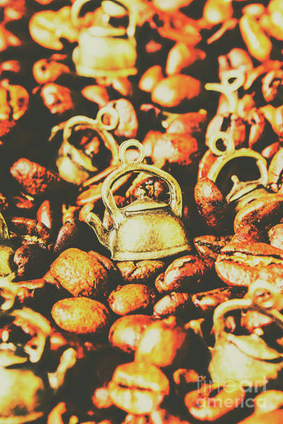 Pod Wall Art - Photograph - Country Pots And Coffee Beans by Jorgo Photography - Wall Art Gallery