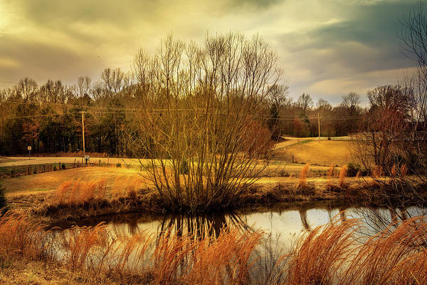 Photograph - Country Reflections - Rural Landscape by Barry Jones