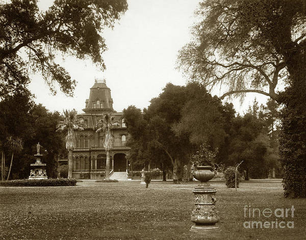 Photograph - Country Residence Near Menlo Park Circa 1890 by California Views Archives Mr Pat Hathaway Archives
