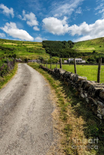 Roman Wall Photograph - Country Road  by Adrian Evans