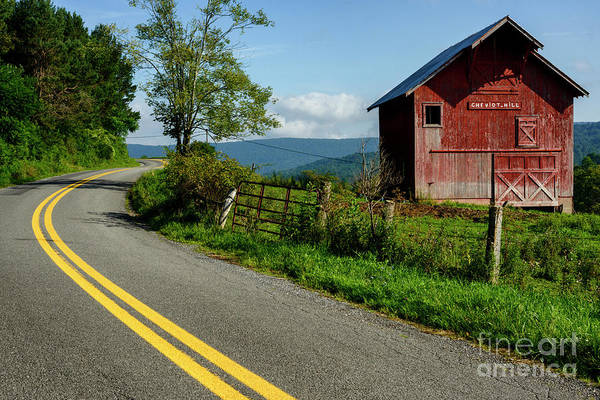 Photograph - Country Road And Barn by Thomas R Fletcher