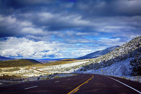 Photograph - Country Road And First November Snow In Utah by Tatiana Travelways
