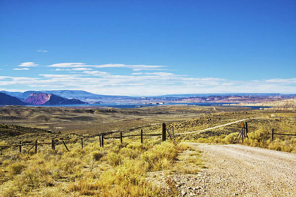 Photograph - Country Road At Flaming Gorge Reservoir by Tatiana Travelways