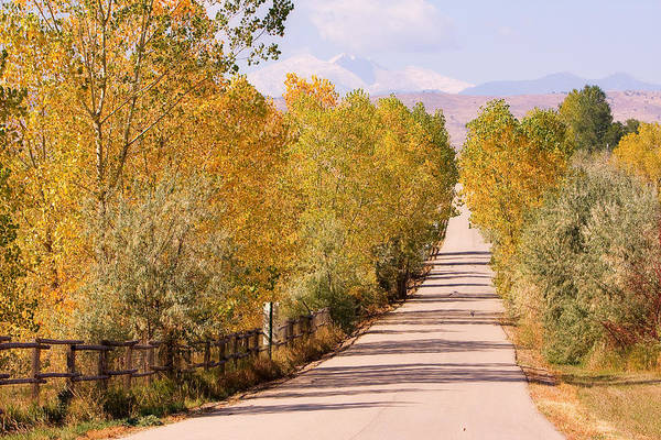 Photograph - Country Road Autumn Fall Foliage View Of The Twin Peaks by James BO Insogna