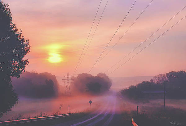Photograph - Country Road Foggy Sunrise by Anna Louise