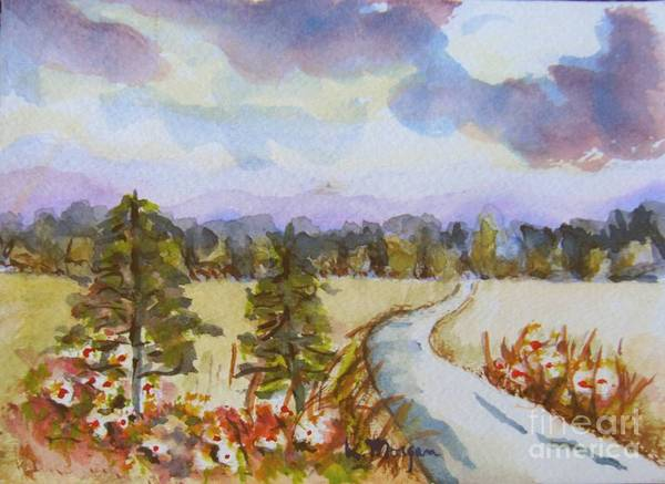 Painting - Country Road by Laurie Morgan